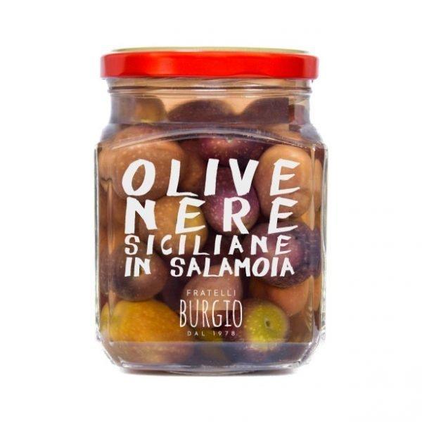 Olive Nere in Salamoia fratelli Burgio Siracusa