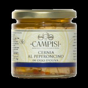 Cernia con Peperoncino in Olio d'oliva Campisi 220g
