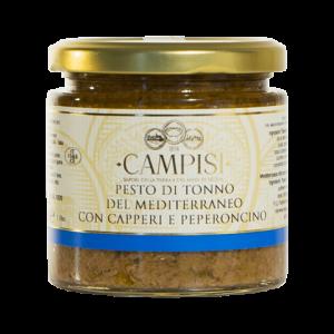 Pesto di Tonno del Mediterraneo con Capperi e Peperoncino Campisi 210g