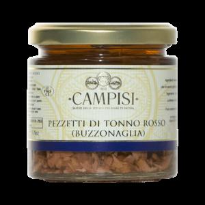 Pezzetti di Tonno Rosso (Buzzonaglia) Campisi Vaso 220g