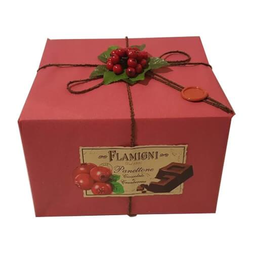 Panettone Flamigni Lamponi e Cioccolato