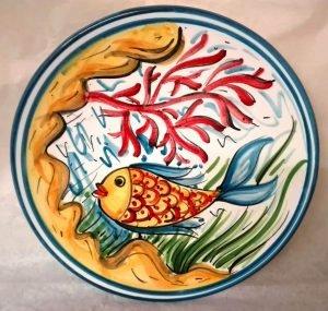 Piatto in Terracotta con pesce