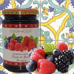 Confettura Extra Biologica di Frutti di Bosco Sicilsole