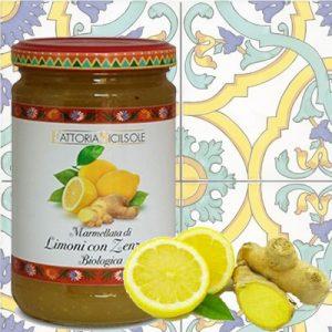 Marmellata di Limoni con Zenzero Biologica Sicilsole