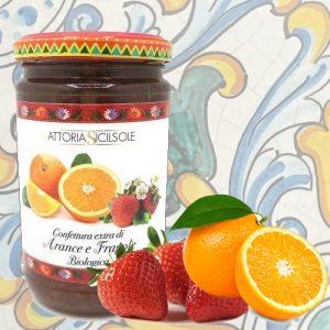 Confettura Extra di Arance e Fragole Biologica Fattoria Sicilsole