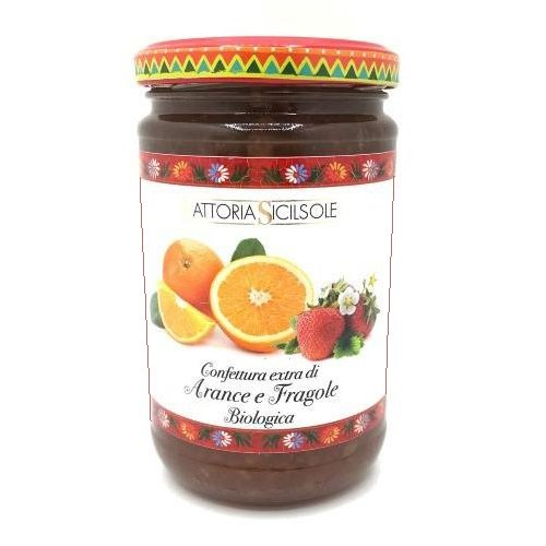 Confettura Extra di Arance e Fragole Bio Fattoria Sicilsole