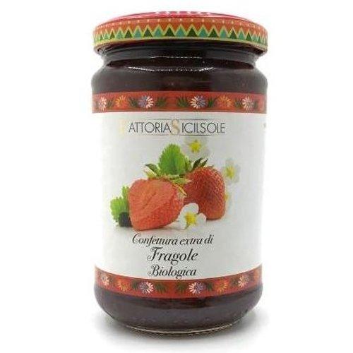 Confettura Extra di Fragole Bio Fattoria Sicilsole