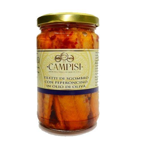 Filetti di Sgombro e Peperoncino Campisi 300g