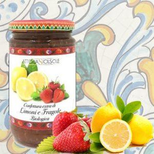 Confettura Extra di Limoni e Fragole biologica Fattoria Sicilsole