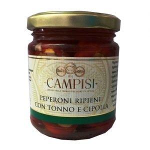 Peperoni ripieni Tonno e Cipolla Campisi 190g