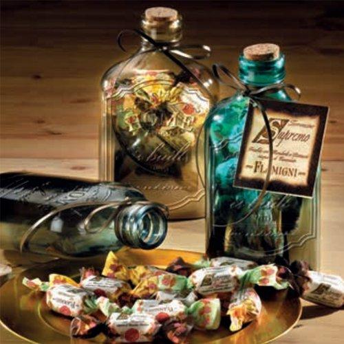 Le bottiglie porta essenze di vetro sfumato con Torroncini Flamigni