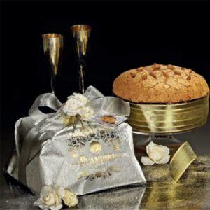 Panettone Glassato con Mandorle (Oro) Flamigni