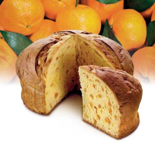 Panettone al mandarino di Ciaculli in pacchetto regalo Flamigni