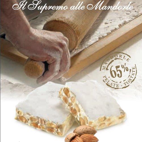 """Torrone Il """"Supremo"""" Friabile alle mandorle(65%) in busta Pergamena"""