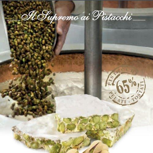 """Torrone """"Supremo"""" Friabile ai Pistacchi(65%) in busta Pergamena"""