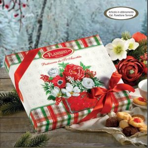 La scatola regalo con nastro Flamigni