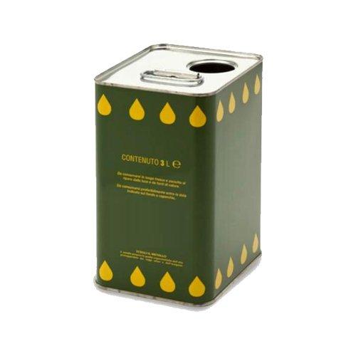 Olio Extravergine Zaitun Bio Mozzicato Formato 3 e 5 Litri