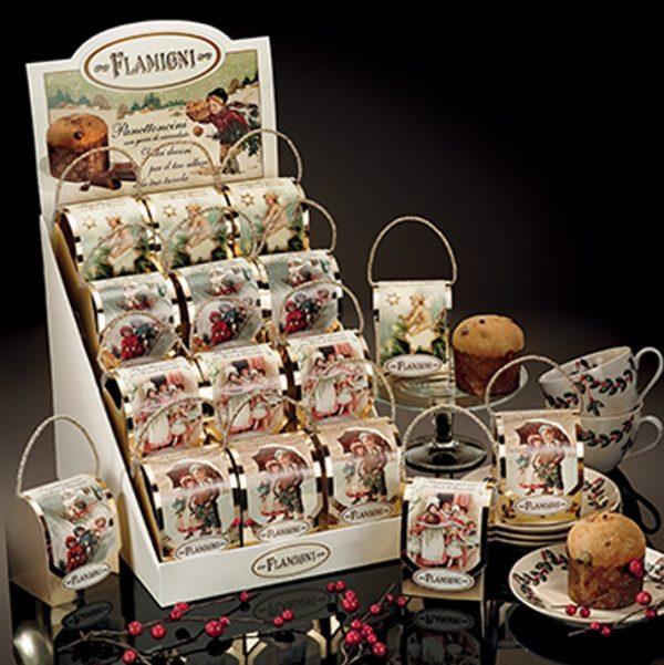 Mini Panettone con gocce di Cioccolato in astuccio segnaposto Flamigni