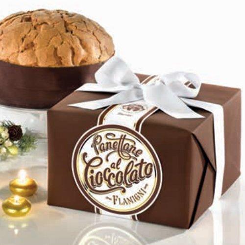 Panettone Glassato con gocce di cioccolato in pacchetto regalo Flamigni