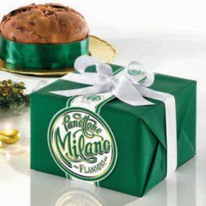 Panettone Milano Flamigni in pacchetto regalo con nastro