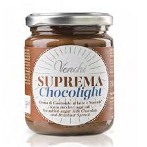 Crema Suprema Chocolight vaso 250g Venchi
