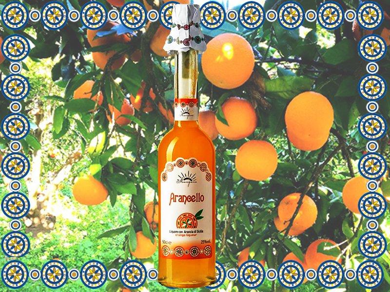 Arancello Liquore di Arancia di Sicilia Mangano