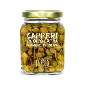 Capperi selvatici in Olio Extra Vergine d'oliva fratelli Burgio Siracusa