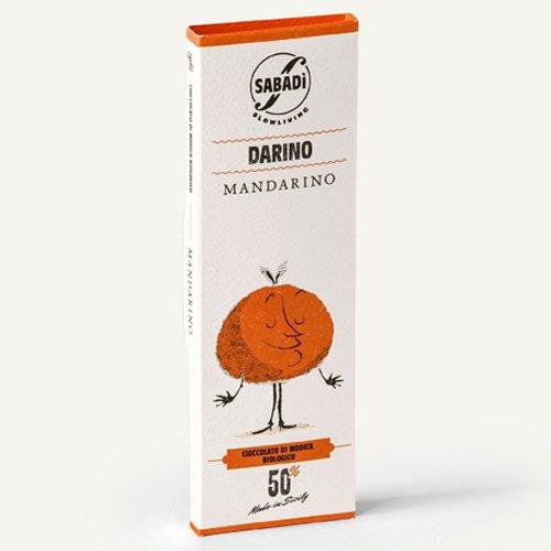 """Cioccolato di Modica al Mandarino IGP bio """"Darino"""" Sabadì"""