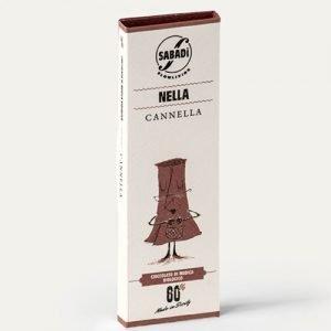 """Cioccolato di Modica alla cannella IGP bio """"Nella"""" Sabadì"""