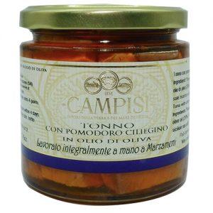Tonno Con Pomodoro Ciliegino In Olio D'oliva 220g Campisi