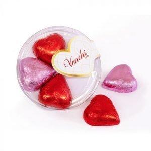 Cioccolatini Valentines fondenti e al latte in scatola regalo blister rotondo 40g Venchi