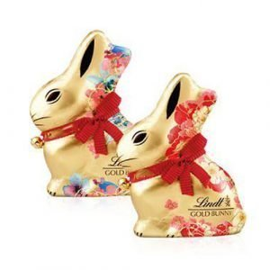 Gold Bunny Flowers Lindt 10g