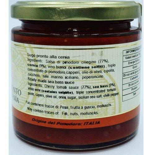 Sugo pronto alla Cernia Campisi 220g Ingredienti