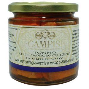 Tonno con Pomodoro Ciliegino in Olio D'oliva Campisi 220g